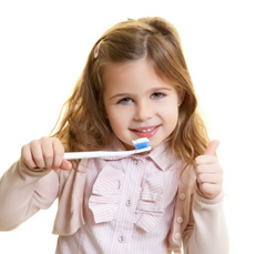 Pediatric Care Dublin CA - Little Girl with  Toothbrush