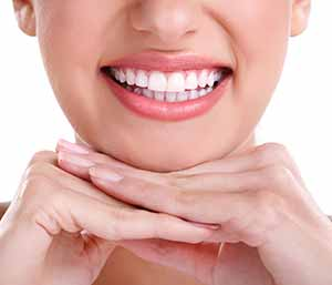 Image of a Brighter teeth with nice lady smilling